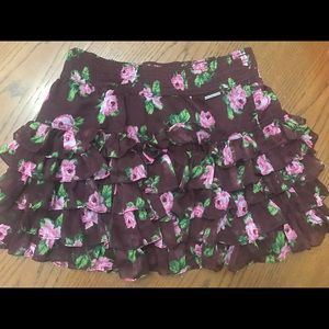 A&F Floral skirt size M